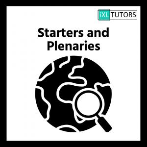 Starters and Plenaries